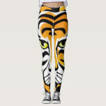 "Cartoon tiger Animal Print Leggings<br><div class=""desc"">Cartoon tiger Animal Print Leggings by BOLO Designs.</div>"