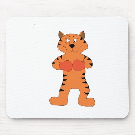 Cartoon Tiger Boxer Mousepads