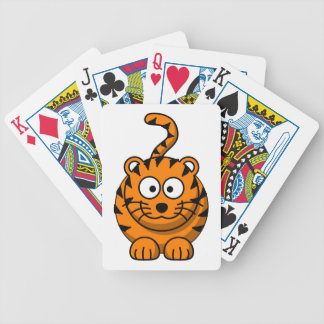 Cartoon Tiger Cat Bicycle Playing Cards