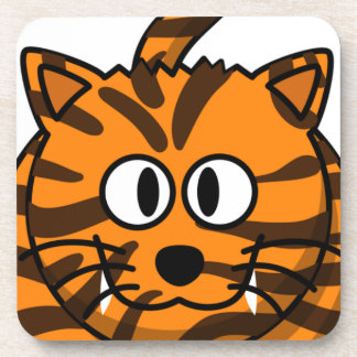 Cartoon Tiger Customizable Quality Products Beverage Coaster