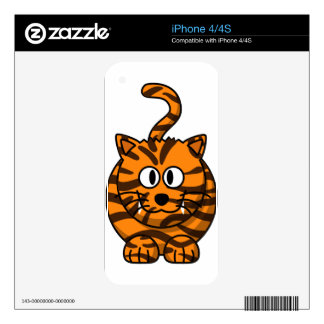 Cartoon Tiger Customizable Quality Products Skins For iPhone 4S