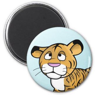 cartoon tiger fridge magnet
