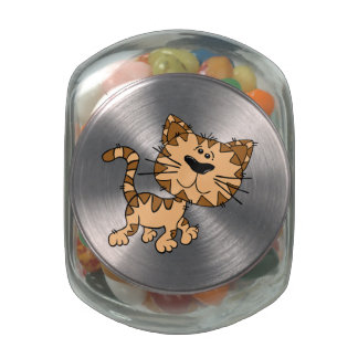 Cartoon Tiger Glass Candy Jar