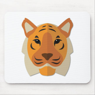 Cartoon Tiger Head Mouse Pad