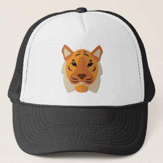 Cartoon Tiger Head Trucker Hat