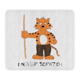 Cartoon Tiger With Pool Cue T-Shirt Cutting Board