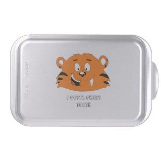 Cartoon Tiger With Sweet Tooth T-Shirt Cake Stand Cake Pan