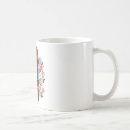 Cartoon Tiki Statue Classic White Coffee Mug