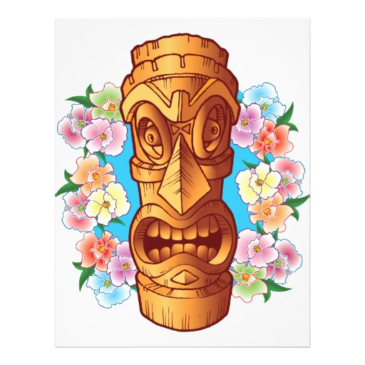 Cartoon Tiki Statue Flyer
