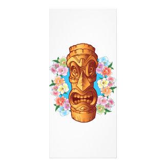 Cartoon Tiki Statue Rack Card Design