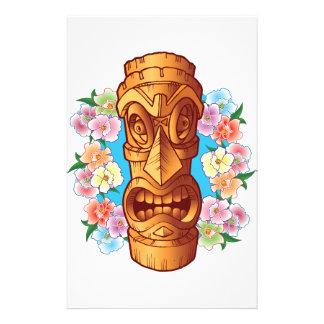 Cartoon Tiki Statue Stationery