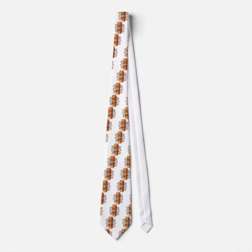 Cartoon Tiki Statue Tie