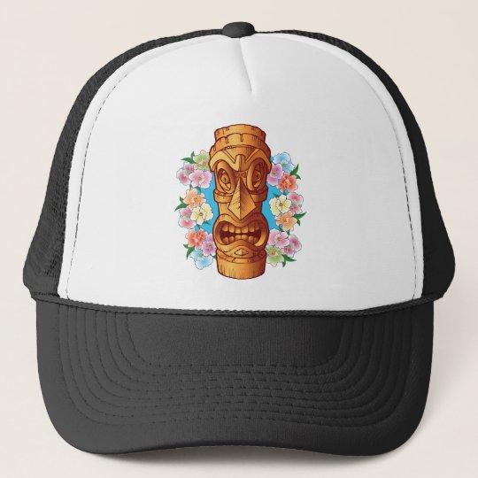 Cartoon Tiki Statue Trucker Hat
