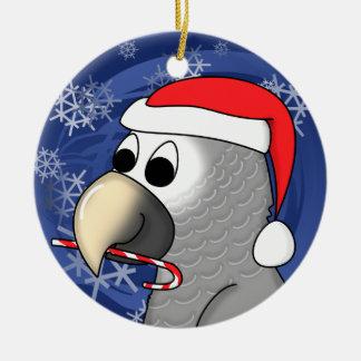 Cartoon Timneh African Grey Christmas Ornament