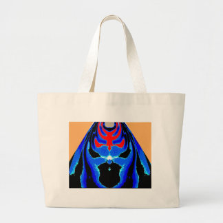 Cartoon TIN MAN Blue Jumbo Tote Bag