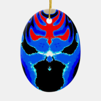 Cartoon TIN MAN Blue Ceramic Ornament