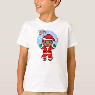 Cartoon Toddler Wearing Santa Suit T-Shirt