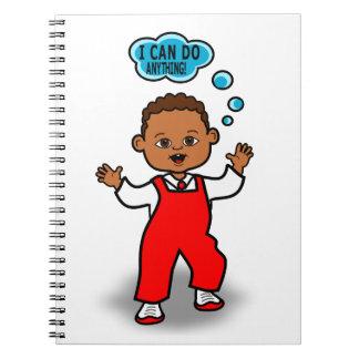 Cartoon Toddler's First Steps Motivational Journal
