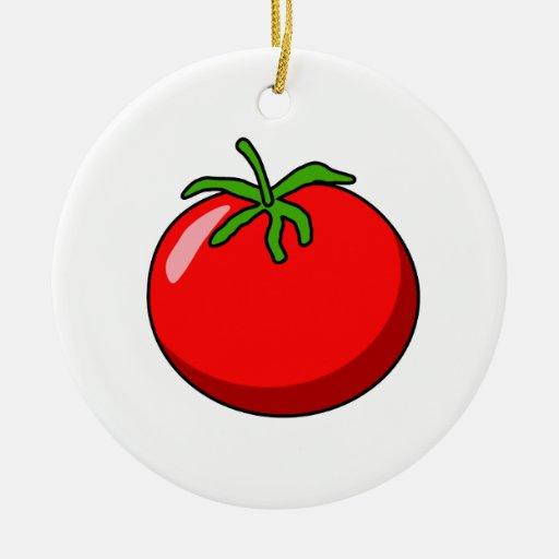Cartoon Tomato Ornament