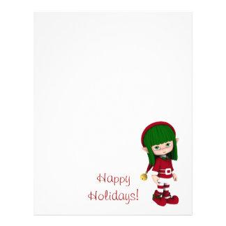 Cartoon Toon Elf Holiday Letterhead