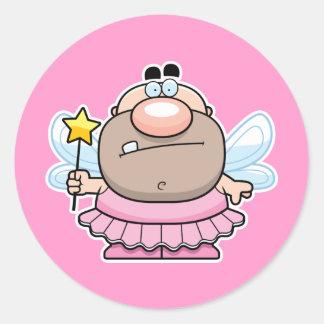 Cartoon Tooth Fairy Classic Round Sticker