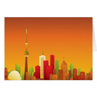 Cartoon Toronto Greeting Card