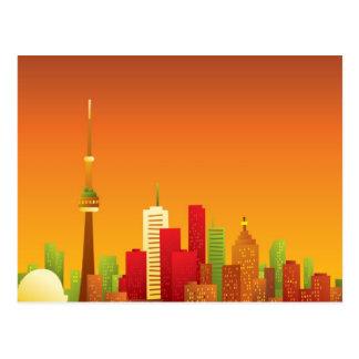 Cartoon Toronto Postcard