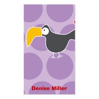 Cartoon Toucan Kid Fun Custom Photo Profile Card Business Card Templates