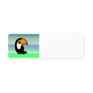 Cartoon Toucan Label