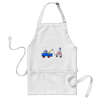 Cartoon Tow Truck and Driver Adult Apron
