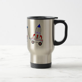 Cartoon Tow Truck and Driver Travel Mug