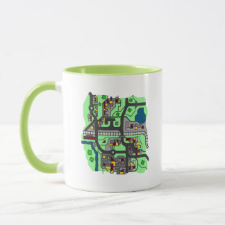 Cartoon Town Map Mug
