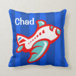 Cartoon Toy Airplane   red blue Pillow