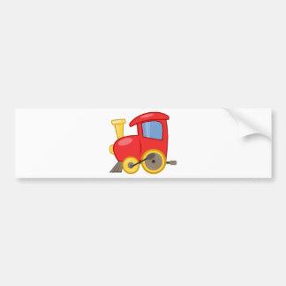 CARTOON TOY TRAIN COLORFUL KIDS GROUND TRANSPORTAT BUMPER STICKER
