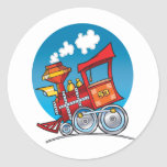 Cartoon Train Engine Stickers