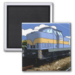 Cartoon Train Fridge Magnet