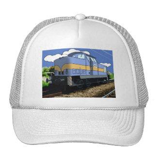 Cartoon Train Trucker Hat