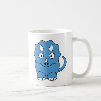 Cartoon Triceratops (blue) Classic White Coffee Mug
