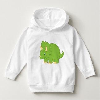 Cartoon Triceratops Dinosaur Toddler Hoodie