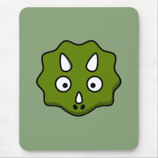 Cartoon triceratops face mouse pad