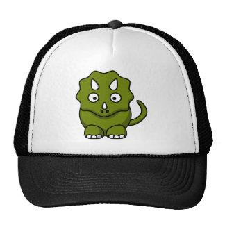 Cartoon triceratops mesh hat