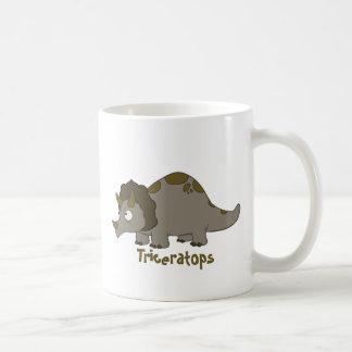 Cartoon Triceratops Classic White Coffee Mug