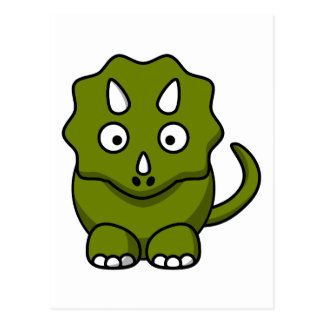Cartoon triceratops postcard