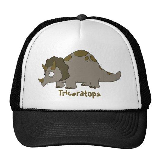 Cartoon Triceratops Trucker Hat