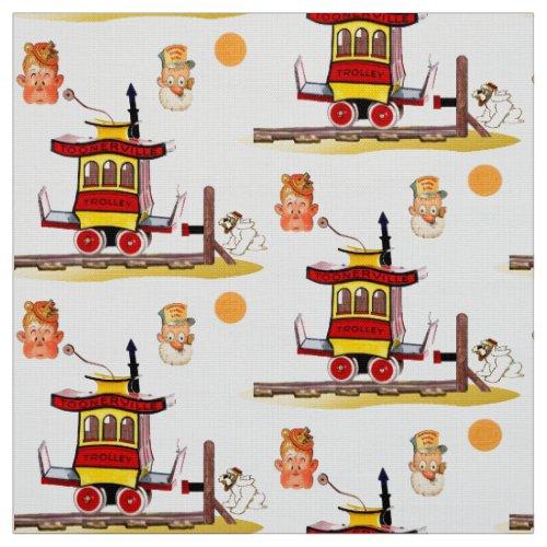 Cartoon Trolley Fabric