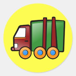 Cartoon Truck Classic Round Sticker