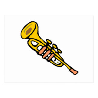 Cartoon Trumpet Post Card