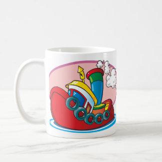 Cartoon Tugboat Coffee Mug