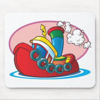 Cartoon Tugboat Mouse Pad