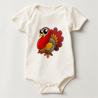 Cartoon Turkey Baby Bodysuit